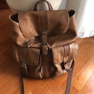 L. L. Bean leather backpack